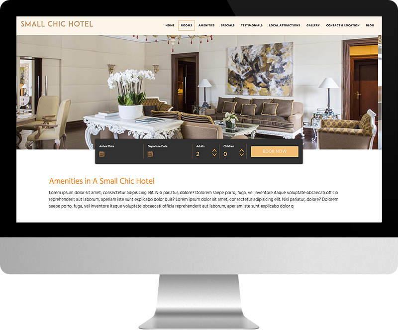 LuxuryRes Hotel Website Design